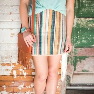 NWT H&M striped woven mini skirt